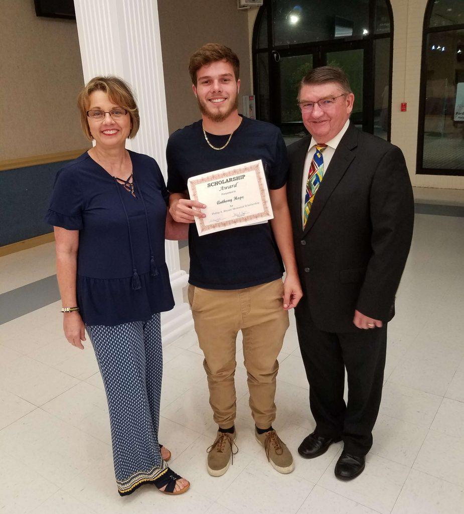 2019 Scholarship winner_Anthony Hope